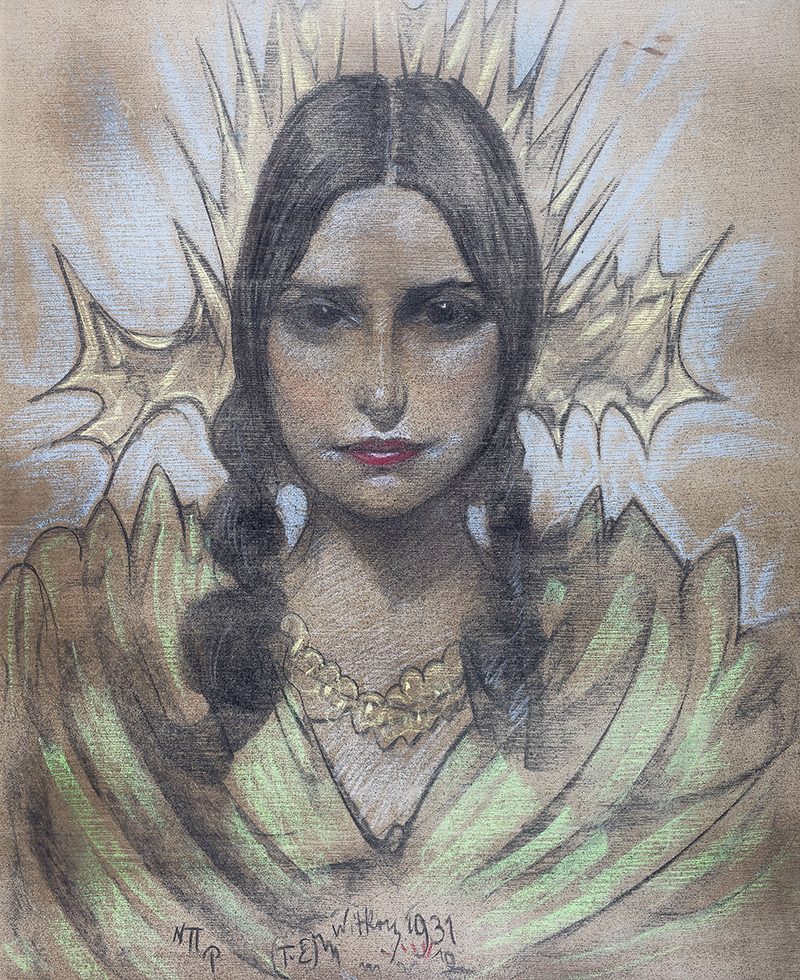 Portret kobiety z warkoczami, 1931 r.