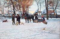 Wyjazd (Wyjazd na polowanie, Kompozycja z saniami), 1888 r.