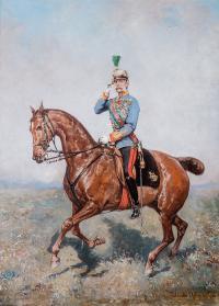 Konny portret ceszarza Franciszka Józefa I