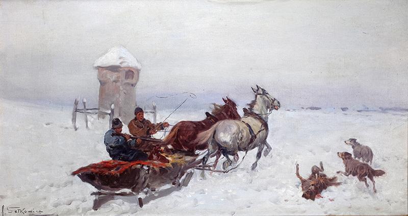 Zaprzęg zimą