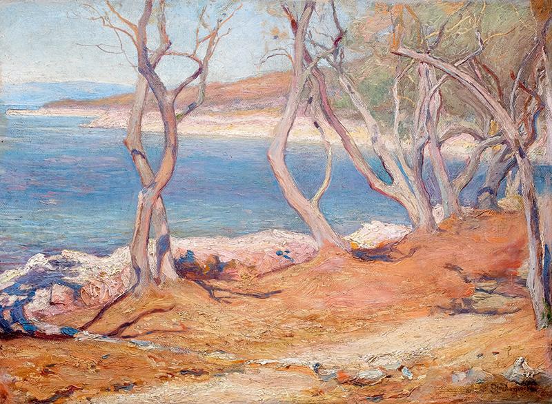 Brzeg morski/Drzewa oliwne – Cherso
