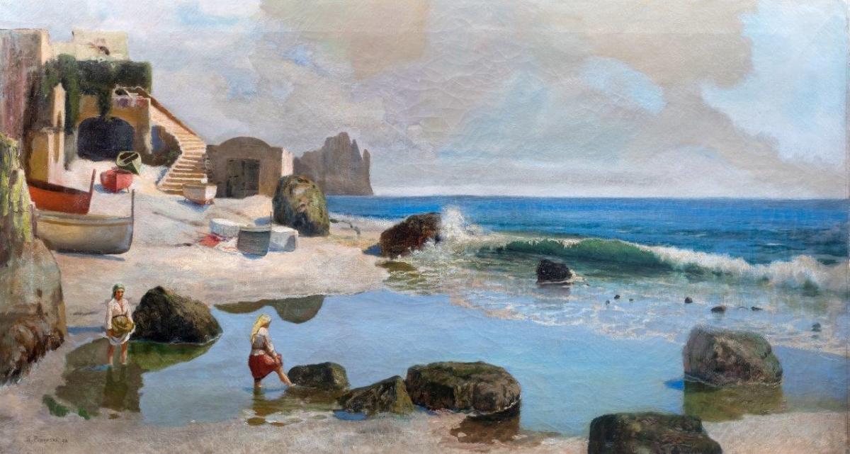 Pejzaż z okolic Neapolu, 1898 r.