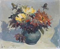 Kwiaty w wazonie, 1983 r.
