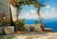 Widok z tarasu na Capri