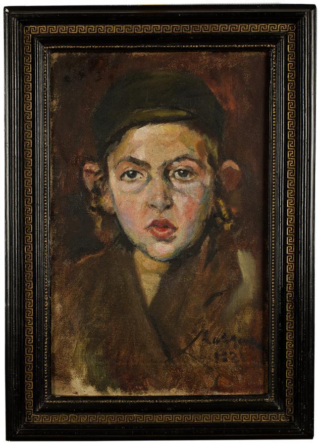 Chłopiec  z pejsami, 1921 r.