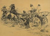W drodze na targ, 1903 r.