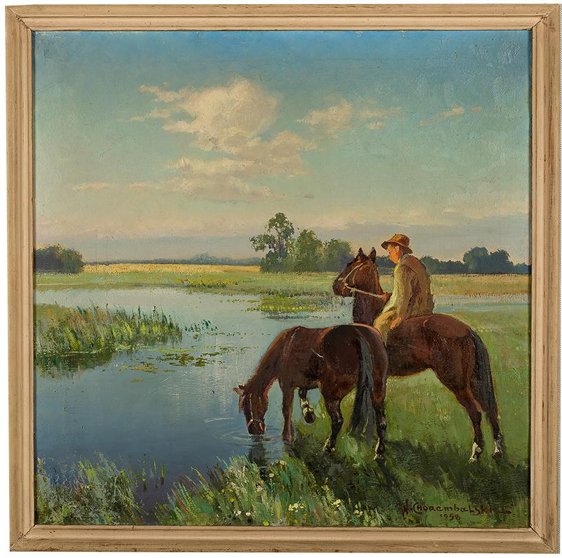 U wodopoju, 1958 r.