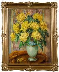 Żółte chryzantemy