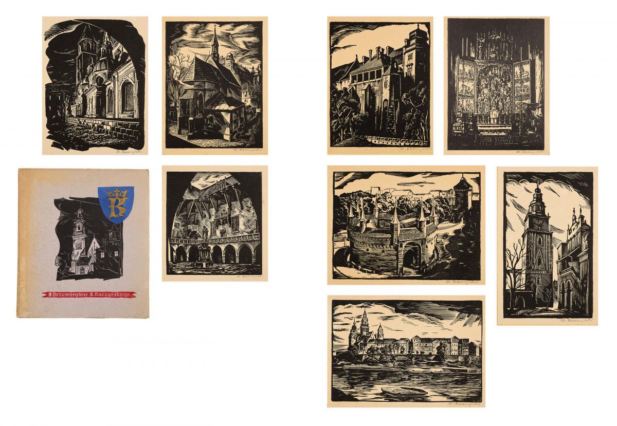 Kraków-teka sześciu grafik, przed 1939 r.
