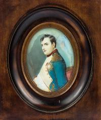 Miniatura - Napoleon Bonaparte, k. XIX w.