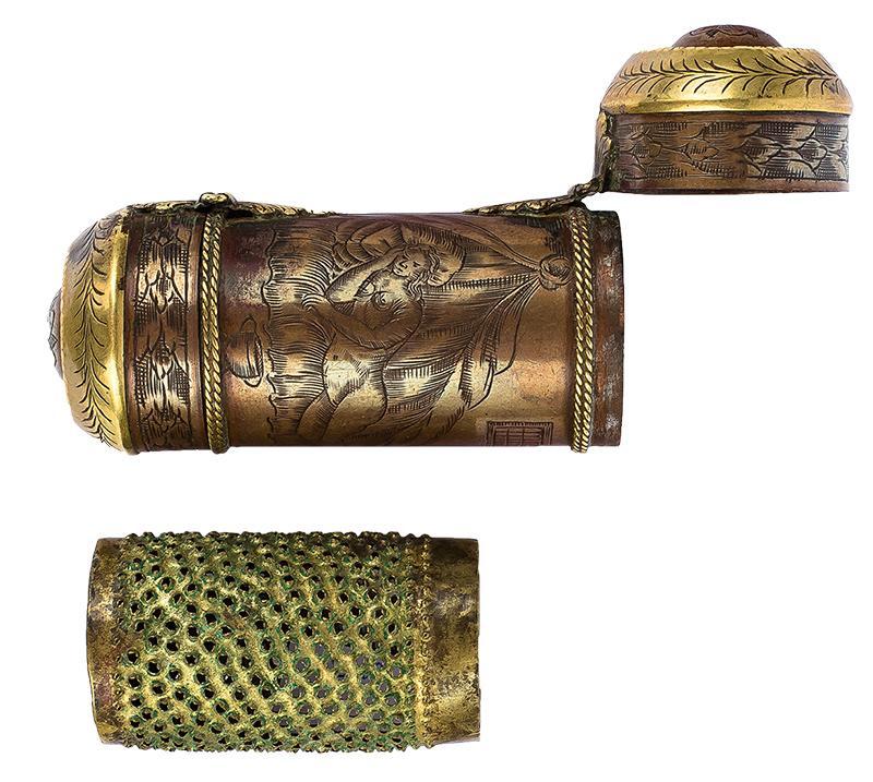 Tabakiera lub pojemnik na afrodyzjak, Holandia (?), I poł. XVIII w.