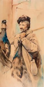 Myśliwy z głuszcami, ok. 1891 r.