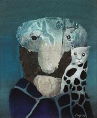 Portret z kotkiem, 1983 r.