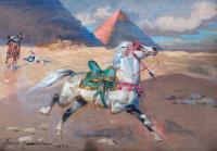 Ucieczka bachmata arabskiego przez pustynię, 1942 r.