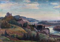 Pejzaż z zamkami Czorsztyn i Niedzica