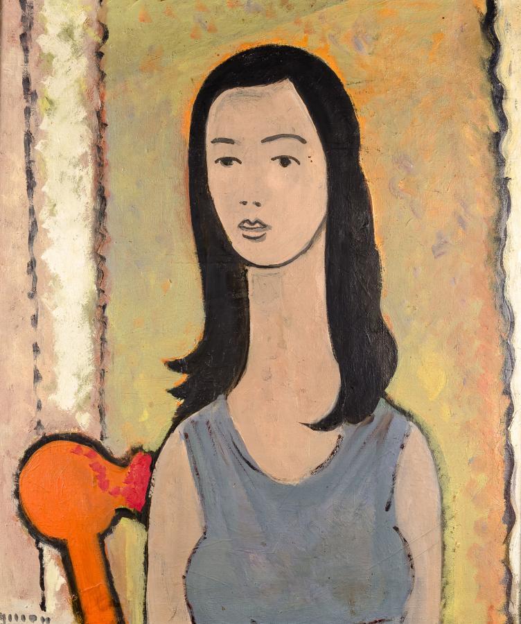 Dziewczyna o czarnych włosach, okres toruński (1945-1965)