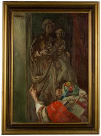 Przed figurką Matki Boskiej