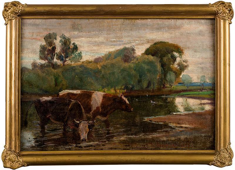 Krowy u wodopoju, 1932 r.