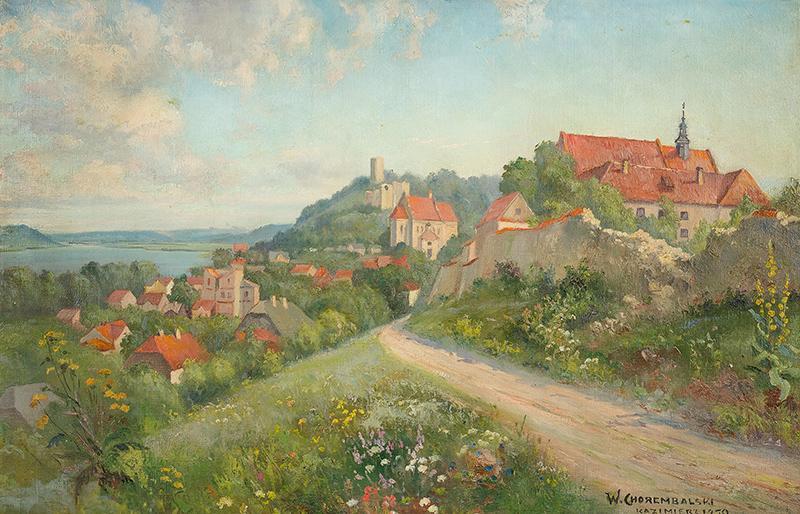 Widok na Kazimierz nad Wisłą, 1950 r.