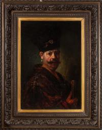 Portret Andrzeja Reja - wnuka Mikołaja Reja, wg Rembrandta van Rijn