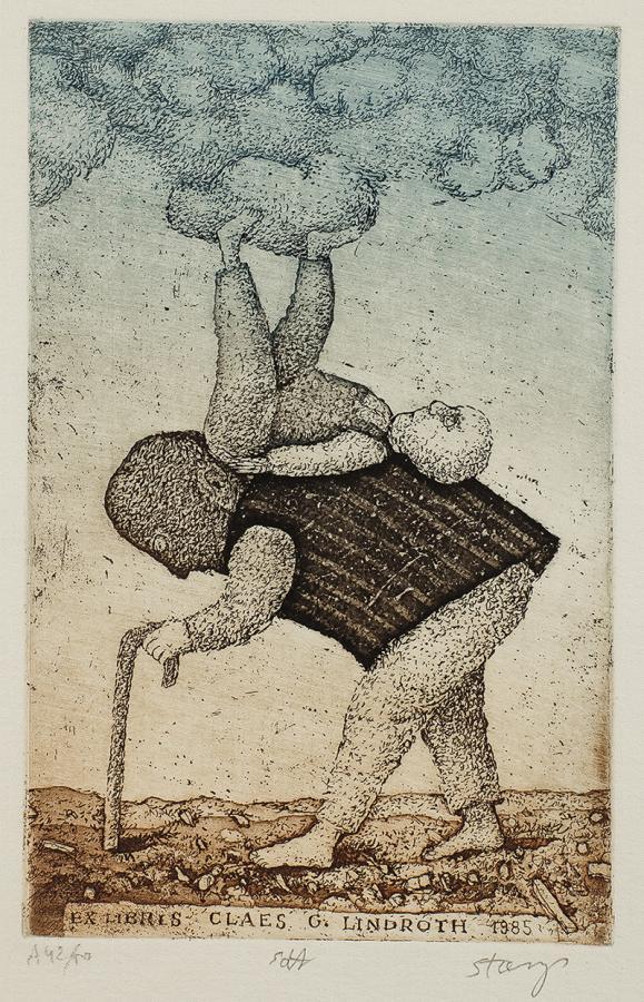 Ekslibris Claes G. Lindroth, 1985 r.