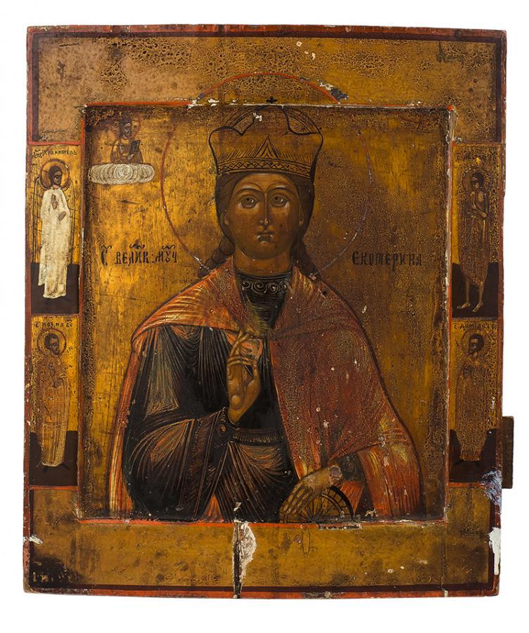 Ikona - Św. Katarzyna, II poł. XIX w.