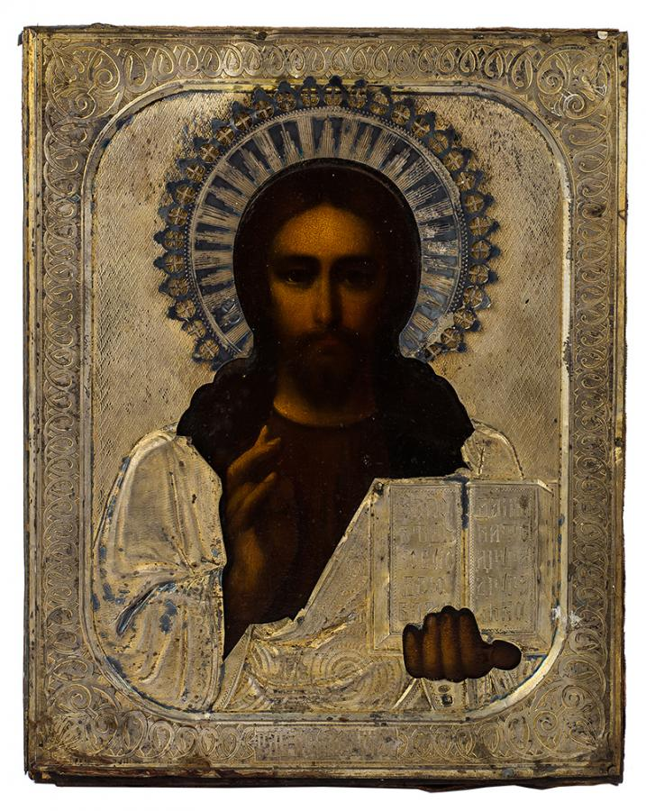 Ikona - Chrystus Pantokrator, pocz. XX w