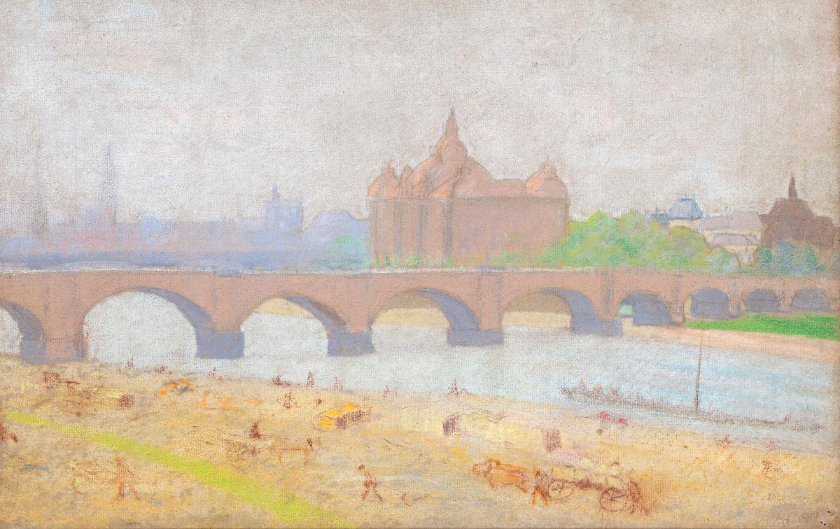 Widok Starego Miasta w Dreźnie, 1890 r.