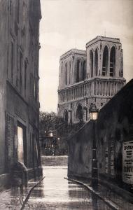 Nokturn Paryski. Widok na Notre Dame, 1911 r.