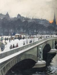 Paryski most (Pont de l'Alma), ok. 1910 r.