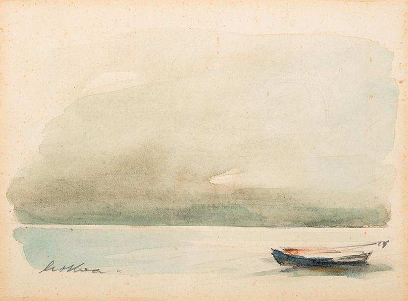 Pejzaż z łódką