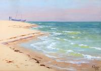 Brzeg morza, 1929 r.