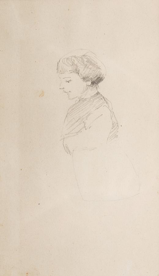 Popiersie dziecka z lewego profilu