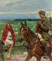 Ułan z gęsiareczką, 1929 r.