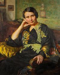 Portret kobiety w kimonie, 1938 r