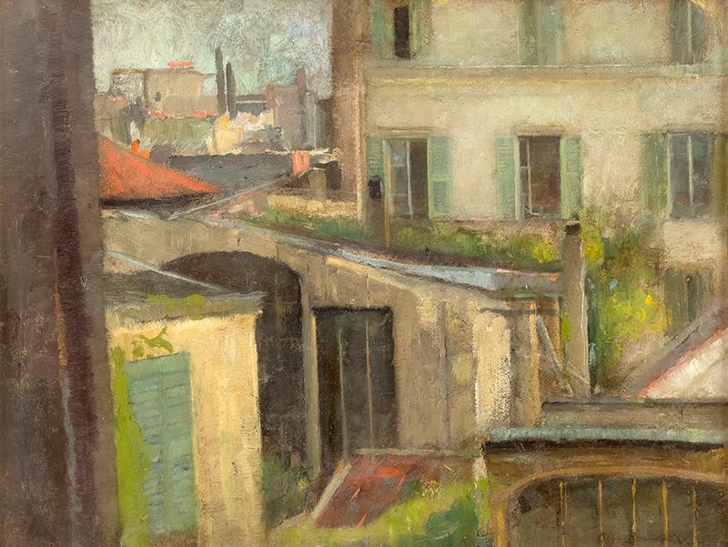 Widok z paryskiej pracowni artystki, 1907 r.