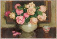Różowe róże w wazonie