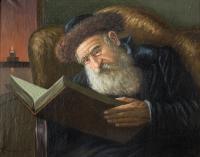 Rabin czytający księgę