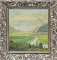 Pejzaż z rzeką, 1942