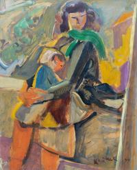 Kobieta z dzieckiem, 1949 r.