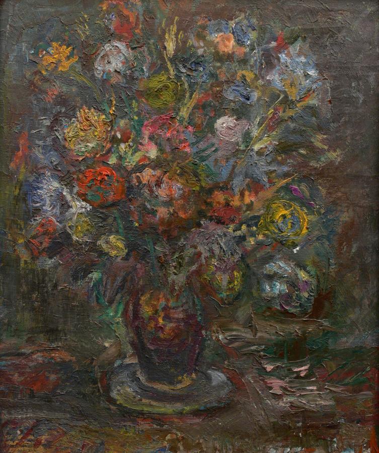 Kwiaty w wazonie, 1971 r.