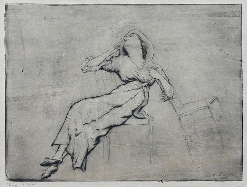 Kobieta z papierosem, 1912 r.