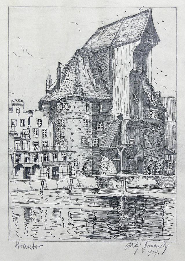 Żuraw w Gdańsku, 1929 r.
