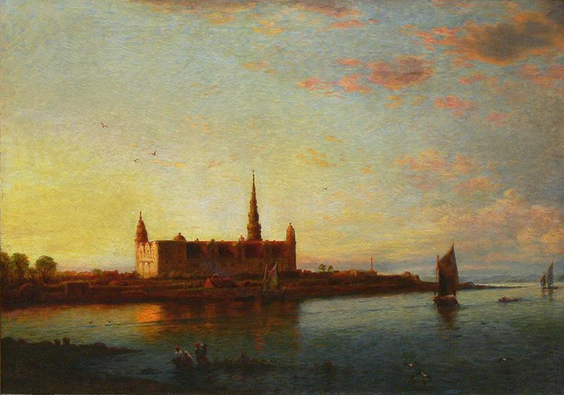 Widok na Zamek Kronborg w Danii