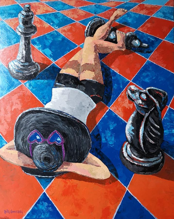 Kobieta na szachownicy, 2020