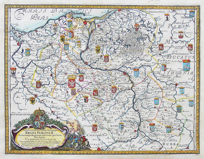 Auctior et Correctior Tabula Chorographica Regni Poloniae…