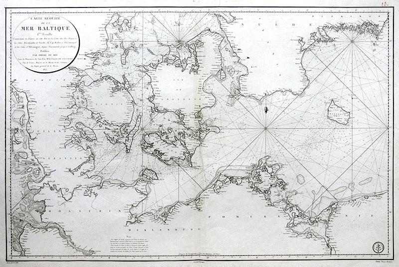 Carte réduite de la Mer Baltique