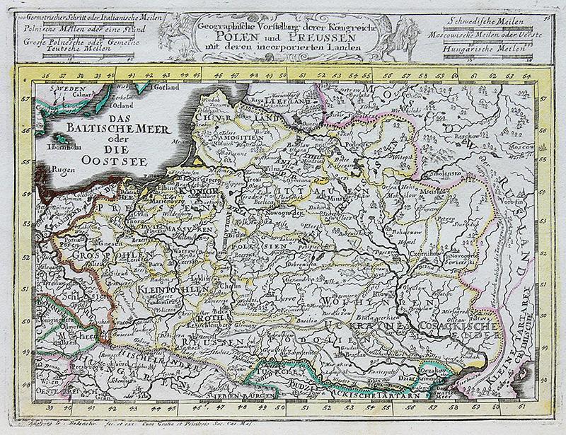 Geographische vorstellung derer Königreiche Polen und Preussen…