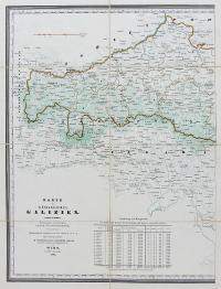 Karte des Königreiches Galizien.