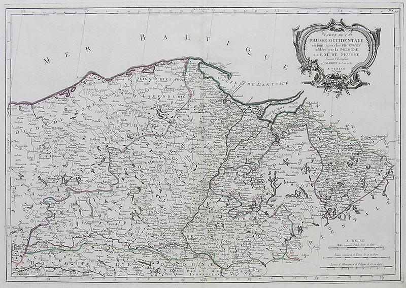 Carte de la Prusse Occidentale où sont tracées les Provinces…